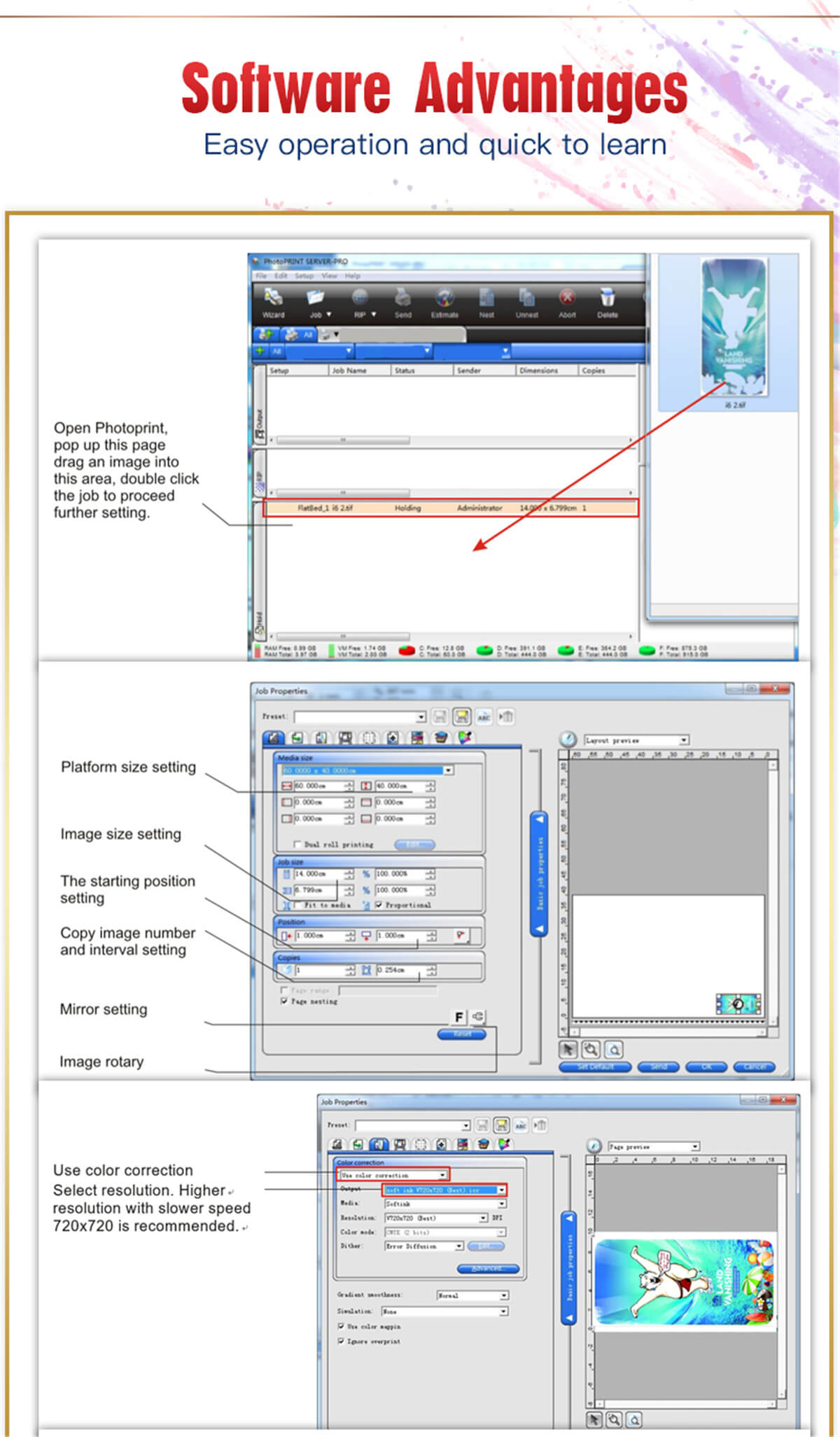 RB-4030 A3 UV Flatbed Printer Machine 15