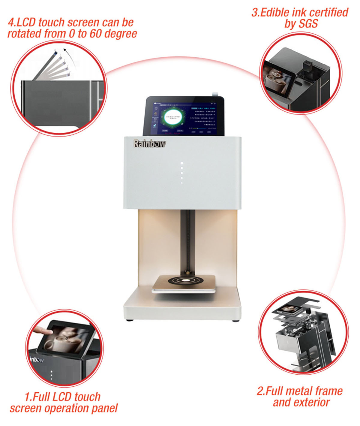 RB-FT5 Coffee Food Printer 14